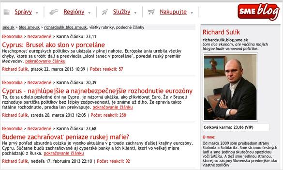 Richard Sulík - Blog SME.SK