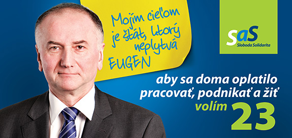 Eugen Jurzyca, kandidát na poslanca za SaS | Parlamentné voľby 2016
