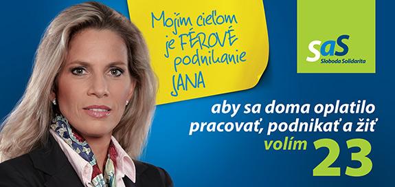 Jana Kiššová, kandidátka na poslankyňu za SaS | Parlamentné voľby 2016