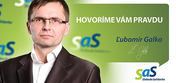 Kandidát strany SaS Ľubomír Galko - voľby 2016