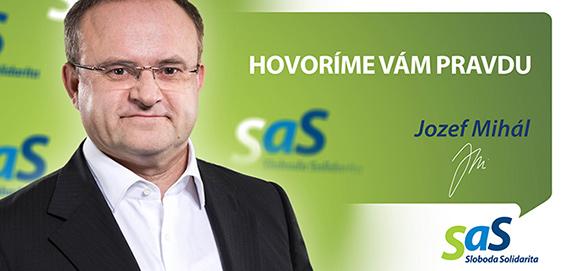 Kandidát strany SaS Jozef Mihál - voľby 2016