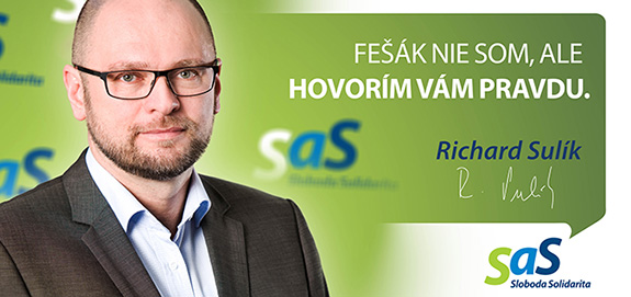 Kandidát strany SaS Richard Sulík - voľby 2016