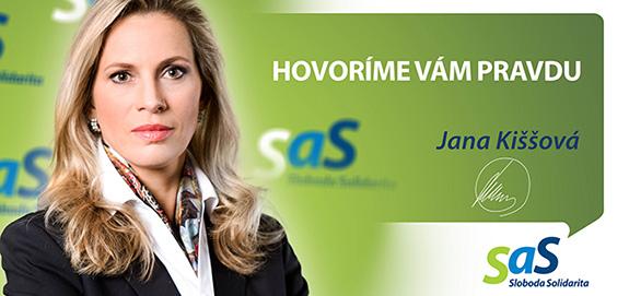 Kandidátka strany SaS Jana Kiššová - voľby 2016