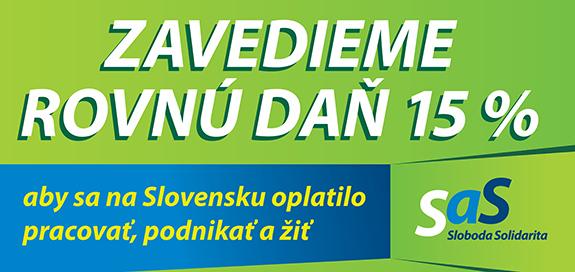 Billboard strany SaS pre parlamentné voľby 2016