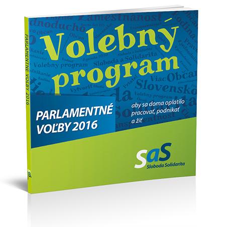 Volebný program SaS pre parlamentné voľby 2016