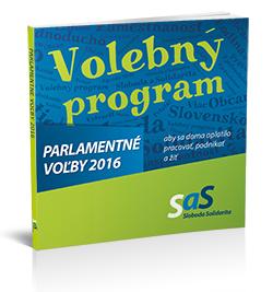 Volebný program SaS - Parlamentné voľby 2016