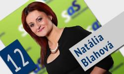 Kandidátka za poslankyňu NR SR - Natália Blahová