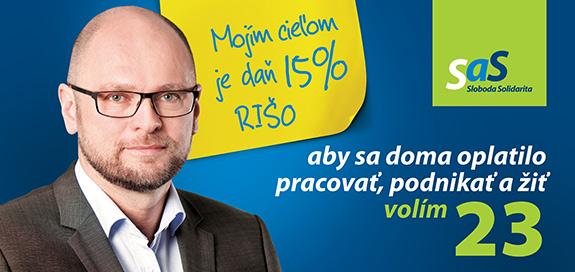 Richard Sulík kandidát NR SR pre parlamentné voľby 2016 - billboard