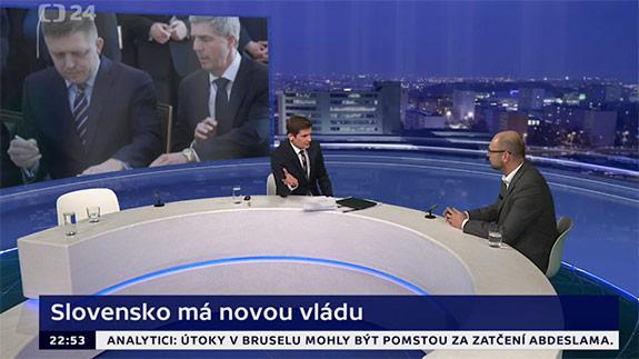 Nová vláda na Slovensku | R. Sulík v Českej televízii