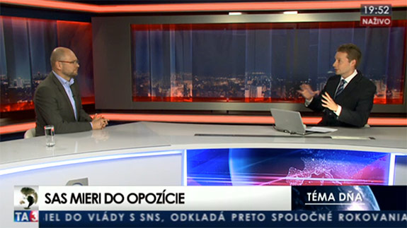 Novávláda - Richard Sulík na TA3