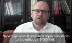 Protest proti skorumpovanej vláde - Sulík