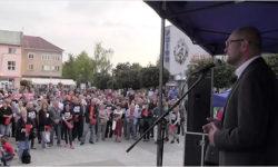 Protest proti zlodejom vo vláde vPrievidzi - Sulík