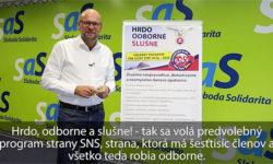 Predvolebný program strany SNS - Sulík