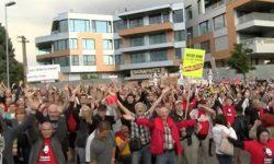 Protest proti zlodejom vpolitike pred Bonaparte - Sulík